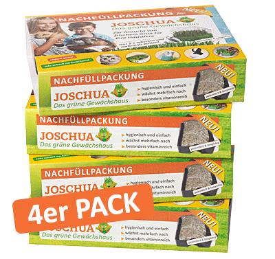 """4er Vorratspack für Das Grüne Gewächshaus """"Joschua"""""""